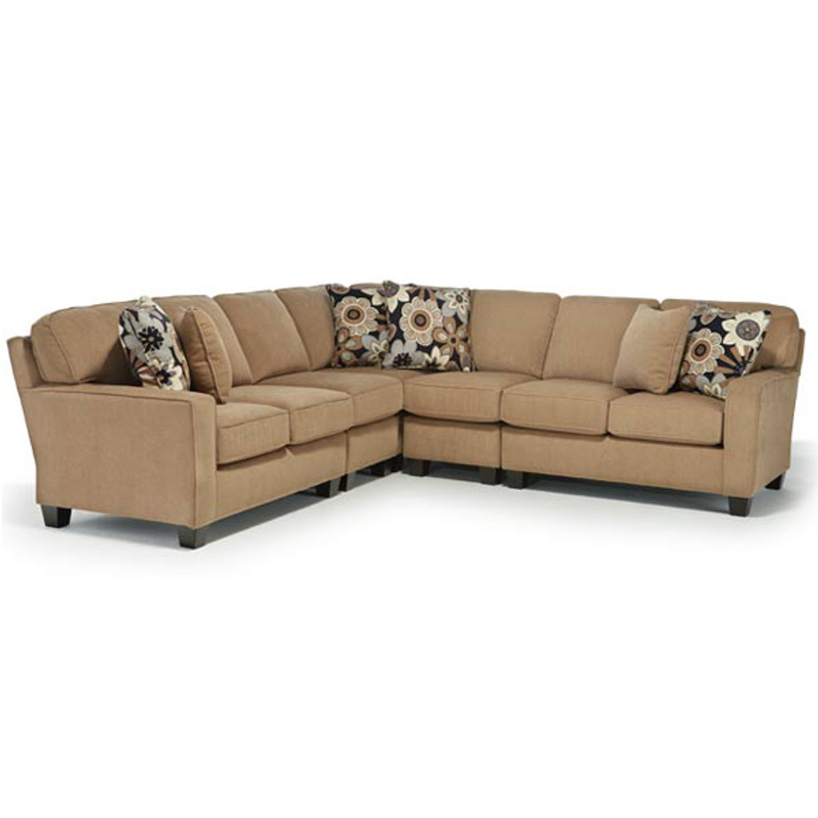 Annabel Track Arm Sectional, best home furnishings, custom sectional, customizable sectional, chaise sofa, family room furniture, modern sectional, modular sectional