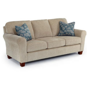 annabel sock arm sofa, Living Room, Sofas, contrast piping, custom sofa, fabric, modern, skirt, solid back, Best home furnishings, sectional configurations, classic, traditional, Annabel Rolled