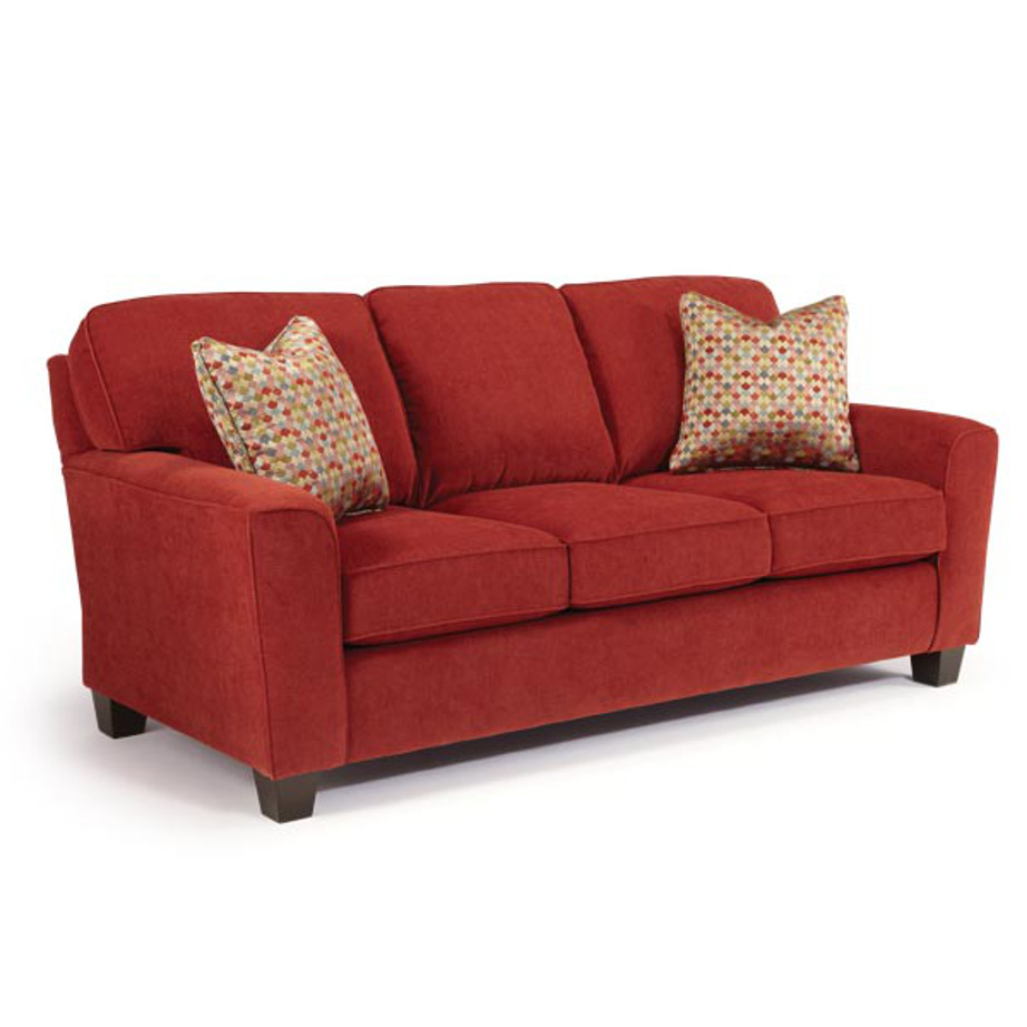 annabel sloped arm sofa, best home furnishings, Living Room, Sofas, contrast piping, custom sofa, fabric, modern, skirt, solid back, Best, sectional configurations, classic, traditional, Annabel Sloped, Annabel, custom,