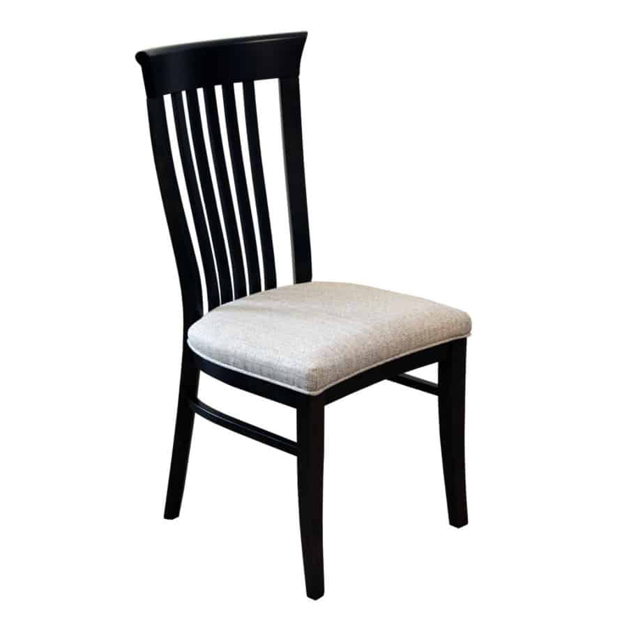 athena dining chair, Dining room, dining room furniture, solid wood, solid oak, solid maple, custom, custom furniture, dining chair, made in Canada, Canadian made