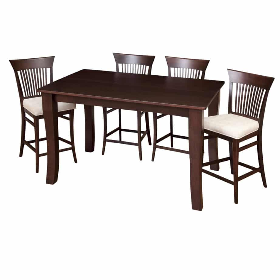 Dining room, dining room furniture, solid wood, solid oak, solid maple, custom, custom furniture, dining table, dining chair, made in Canada, Canadian made, bar table, pub table