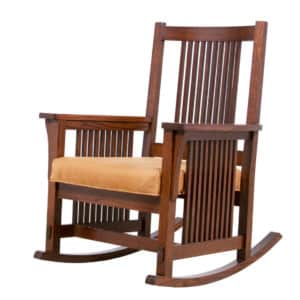 mission rocking chair, living room, living room furniture, rocking chair, solid wood, solid oak, solid maple, upholstery, made in canada, canadian made, chair, easy chair,