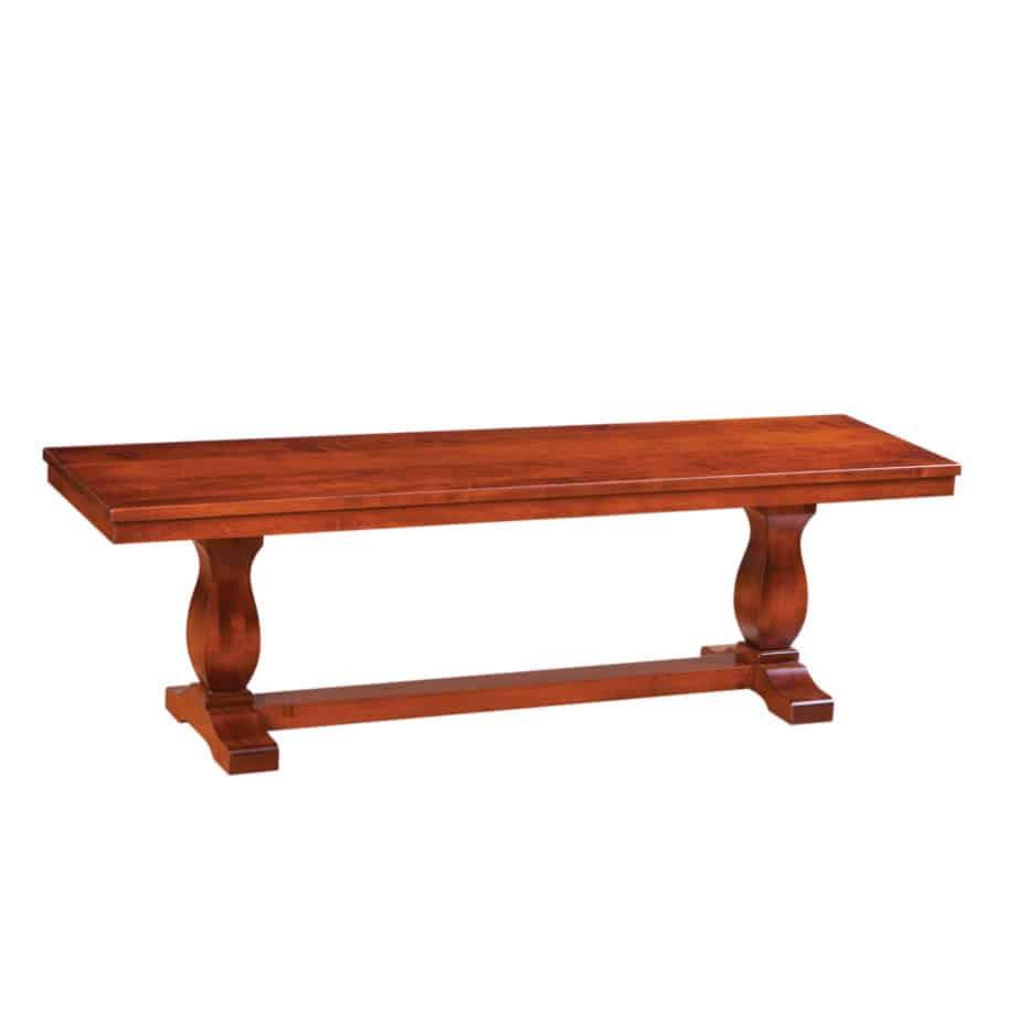 morgan bench, Dining room, dining room furniture, solid wood, solid oak, solid maple, custom, custom furniture, dining bench, made in Canada, Canadian made