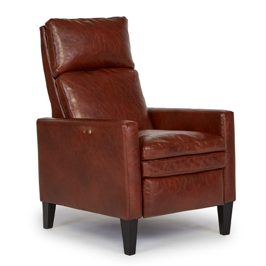 myles recliner, Living Room, Recliners, best home furnishings, custom chair, down filled, high leg, leather, mission, modern, motion, power, recliner, space saver, Power Recliner, Down Filled Seat, Traditional, High Leg, Myles