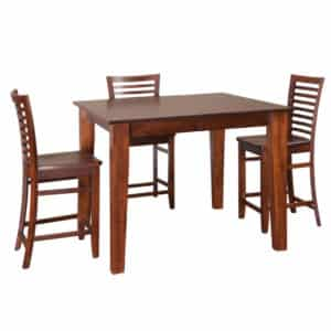 shaker gathering table, Dining room, dining room furniture, solid wood, solid oak, solid maple, custom, custom furniture, dining table, dining chair, made in Canada, Canadian made, pub table, bar table