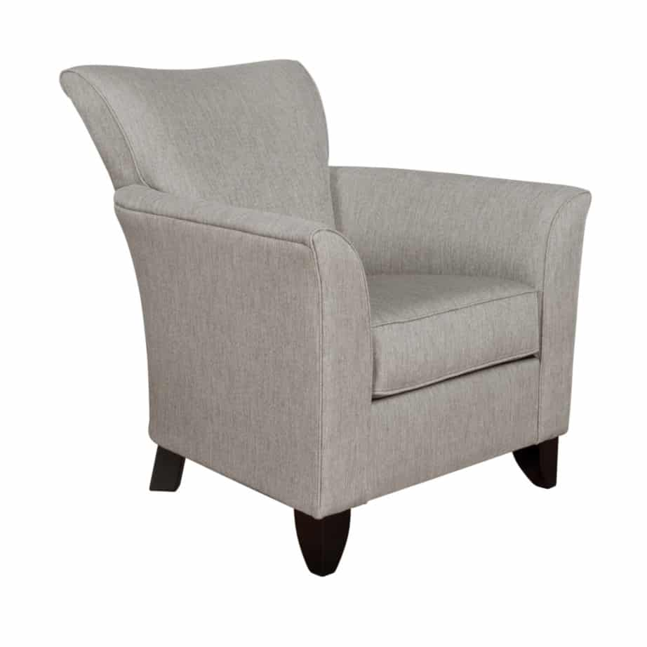 abby chair, Upholstered, chair, made in canada, canadian made, upholstery, custom, custom furniture, living room furniture, custom order, choose your fabric, sectional, custom sectional, accents, accent chair, accent fabrics