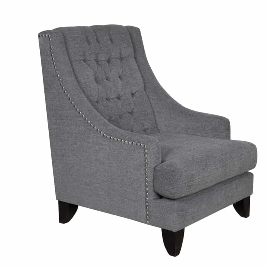 caesar chair, Upholstered, chair, made in canada, canadian made, upholstery, custom, custom furniture, living room furniture, custom order, choose your fabric, sectional, custom sectional, accents, accent chair, accent fabrics