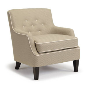 best home furnishings, accent chair, sitting chair, upholstered, custom chair, wood frame, cecil club chair, button back, traditional chair, modern chair