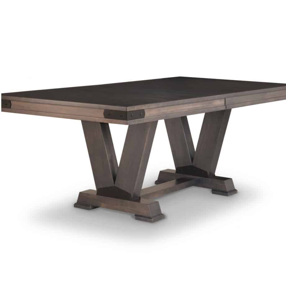 chattanooga trestle table, Dining room, dining room furniture, solid wood, solid oak, solid maple, custom, custom furniture, dining table, sideboard, dining table, extendable table, rustic, rustic design, solid cherry, maple, heritage maple, oak, cherry,