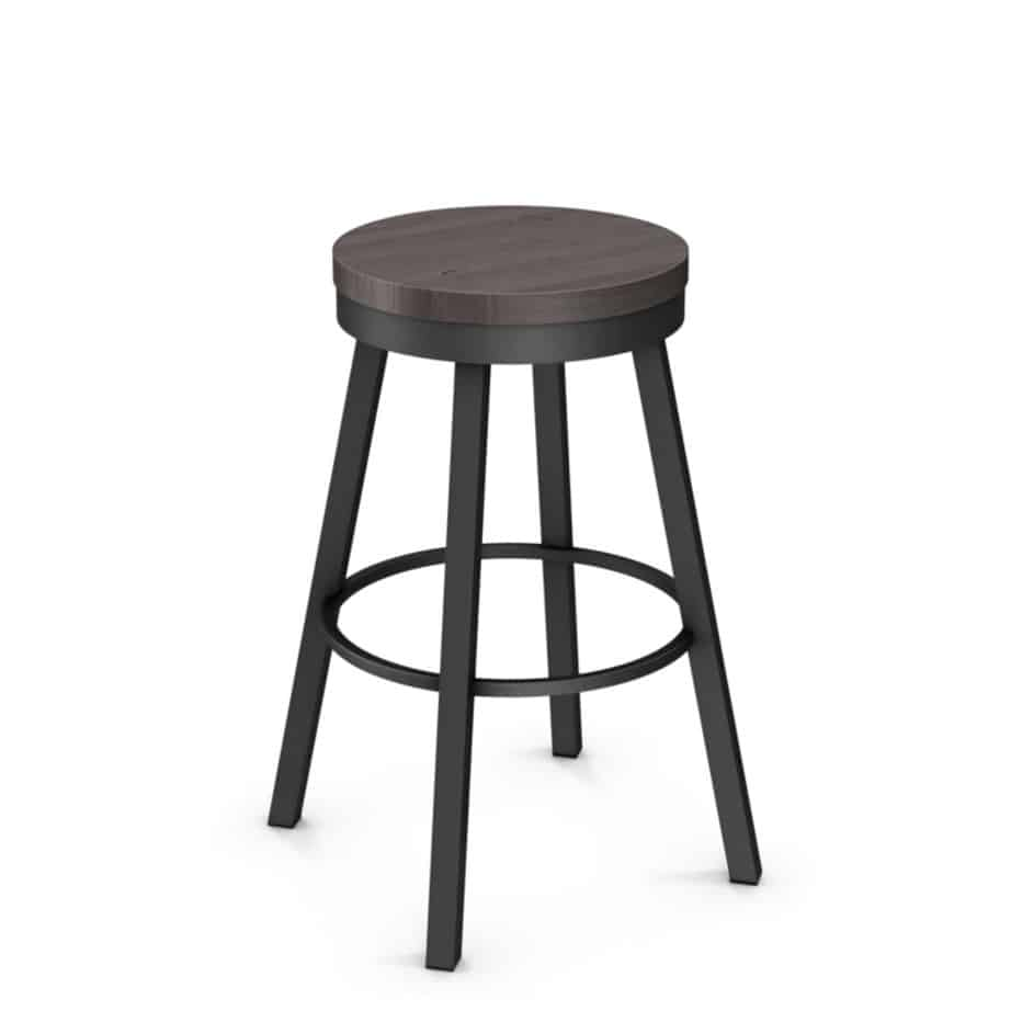 stool, bar height stool, bar height, counter height, counter height stool, custom furniture, made in canada, canadian made, solid wood, kitchen, dining room, kitchen furniture, dining room furniture, metal, custom, customizable, swivel stool, backless, backless stool