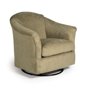 best home furnishings, accent chair, sitting chair, upholstered, custom chair, wood frame, darby swivel chair, round chair, tub chair