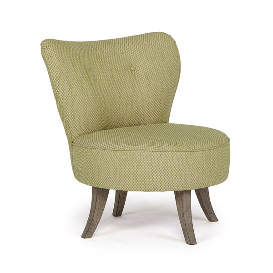 best home furnishings, accent chair, sitting chair, upholstered, custom chair, wood frame, florence swivel chair, round chair, mid century modern chair,