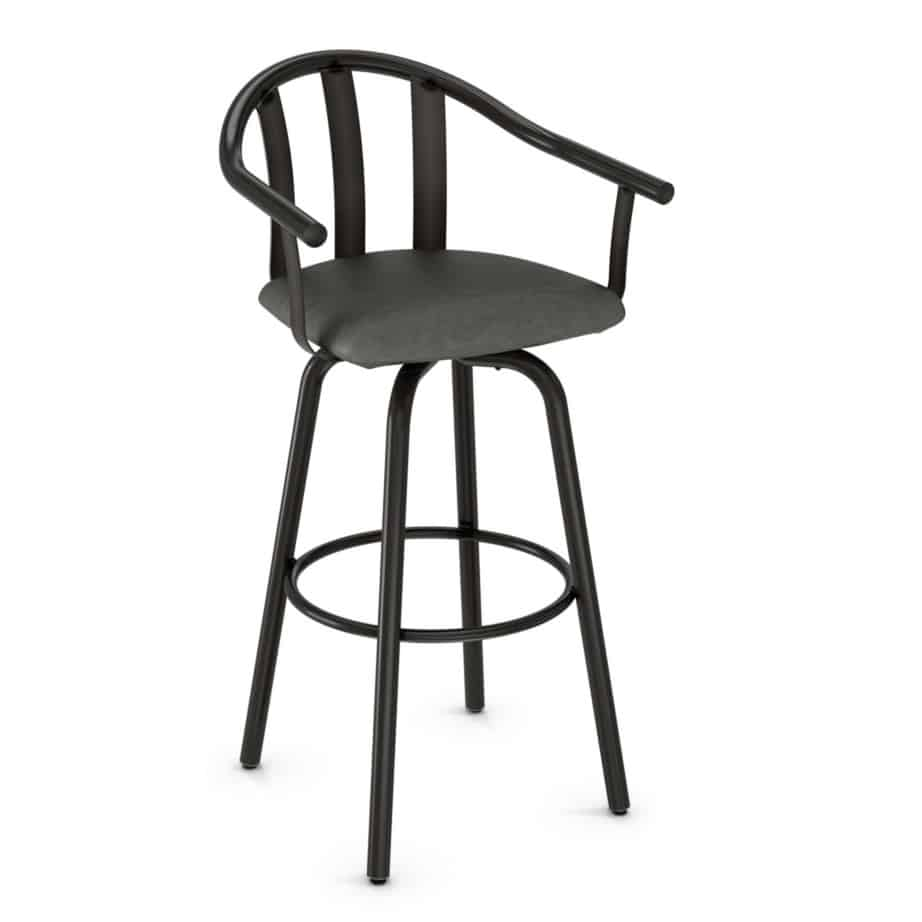 gatlin stool, bar height stool, bar height, counter height, counter height stool, custom furniture, made in canada, canadian made, solid wood, kitchen, dining room, kitchen furniture, dining room furniture, metal, custom, customizable, swivel stool