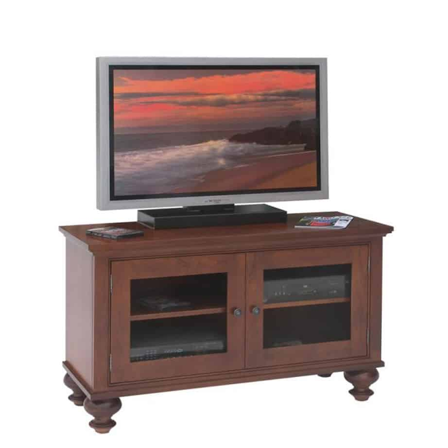 georgetown 48 tv console, living room, living room furniture, console, tv console, tv, hdtv, storage, storage ideas, solid wood, made in Canada, Canadian made, maple, oak, cherry, solid maple, heritage maple, solid oak, solid cherry, rustic, rustic design, drawer, drawers, shelves, storage solutions, custom, custom furniture, entertainment
