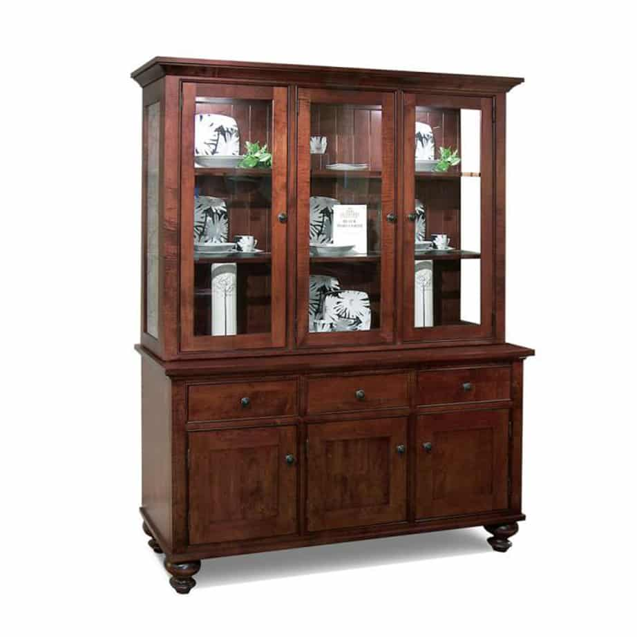 Georgetown 3 Door Buffet And Hutch Prestige Solid Wood Furniture