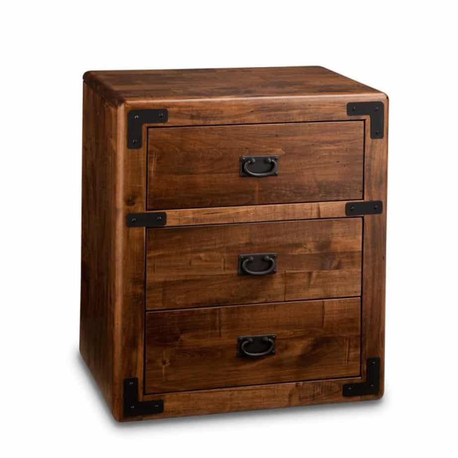 saratoga night stand, Solid wood, made in Canada, solid maple, solid oak, heritage maple, custom furniture, office furniture, Canadian made, desk, rustic, home office, organize, organization, organization ideas, rustic furniture, drawers, storage, storage ideas, study, executive desk