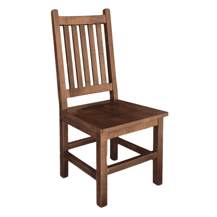 beam dining chair, Dining Room, Chairs, contemporary, distressed, farmhouse, industrial, made in canada, maple, modern, ruff sawn, rustic, solid wood, dining room ideas, craftsman furniture, amish style furniture, contemporary, handmade, rustic, distressed, simple, customizable, Solid Rustic Maple, Beam Chair