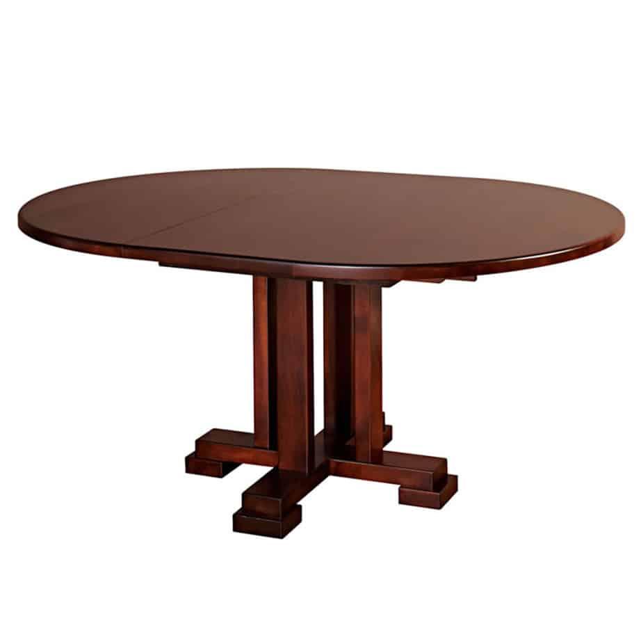 dining room, dining table, custom, custom furniture, custom built, solid wood, wood, solid maple, solid oak, maple, oak, extendable table, pedestal, pedestal table, round table, oval table