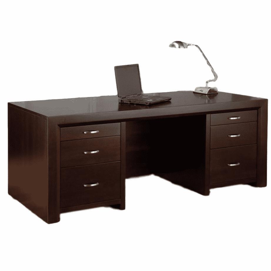 Rustic Americana Hardwood Executive Desk Home Office: Prestige Solid Wood Furniture
