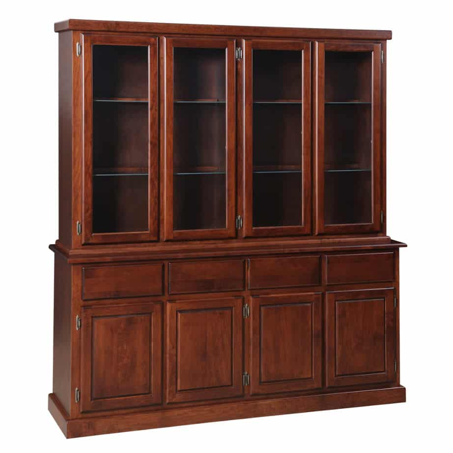 Contemporary 4 Door Buffet and Hutch, Dining room, dining room furniture, occasional, occasional furniture, solid wood, solid oak, solid maple, custom, custom furniture, storage, storage ideas, dining cabinet, sideboard, hutch