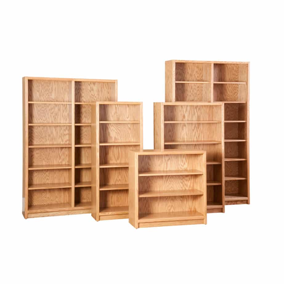 Contemporary Bookcase Solid Wood Maple Oak Organize Organization Organizer