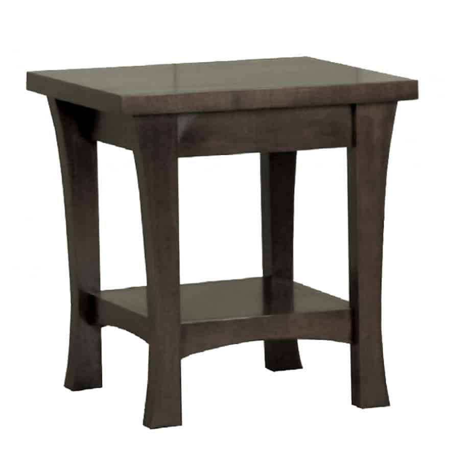 Crofton End table, end table, crofton, end table with no drawers, end table with bottom shelf, Made in Canada, solid wood