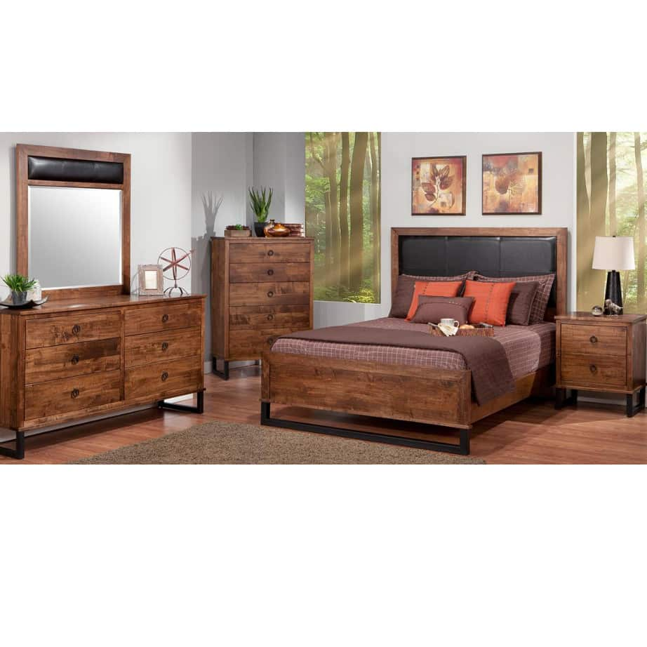 Cumberland Bedroom, Cumberland, cherry, distressed, made in canada, maple, master bedroom, oak, rustic, solid wood, handstone, modern, rustic, straight lines, blocky, unique, modern, amish style furniture, contemporary, handmade, rustic, distressed, simple, customizable, Solid Rustic Maple, bedroom ideas