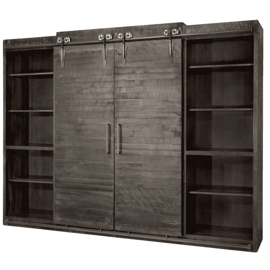 Entertainment, Wall Units, barn doors, contemporary, custom cabinet, distressed, drawers, industrial, made in canada, maple, modern, ruff sawn, rustic, sliding doors, solid wood, distressed, simple, customizable, Solid Rustic Maple, craftsman furniture, amish style furniture, contemporary, handmade, rustic, distressed, simple, customizable, Solid Rustic Maple, Dalton Wall Unit - Closed, Dalton Wall Unit, wall unit