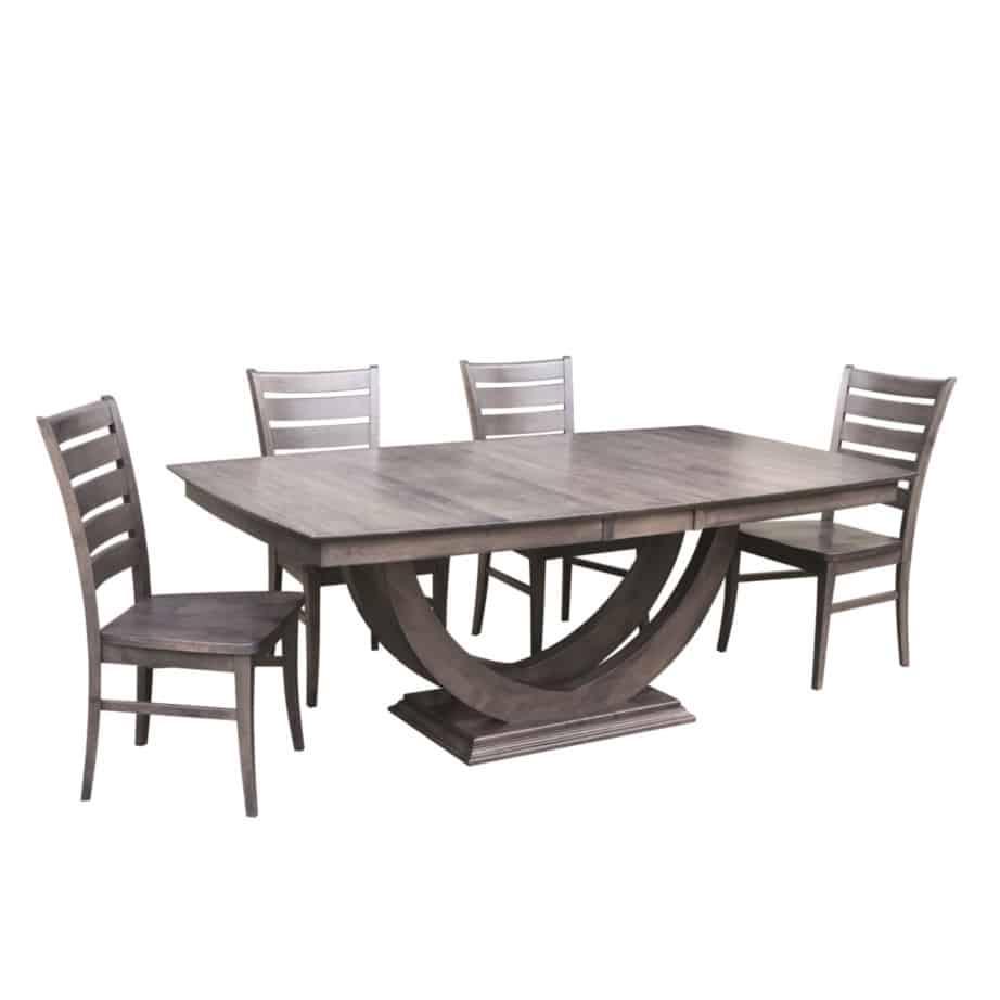 galley u base trestle table home envy furnishings solid wood rh prestigesolidwood ca