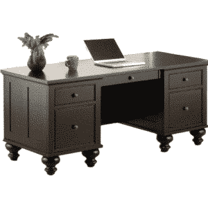 Home Office, Desks Tags: cherry, computer, distressed, made in canada, maple, oak, rustic, solid wood, workstation, office ideas, classic, storage ideas, hand stone, Executive Desk, Georgetown Executive Desk, traditional, straight lines,