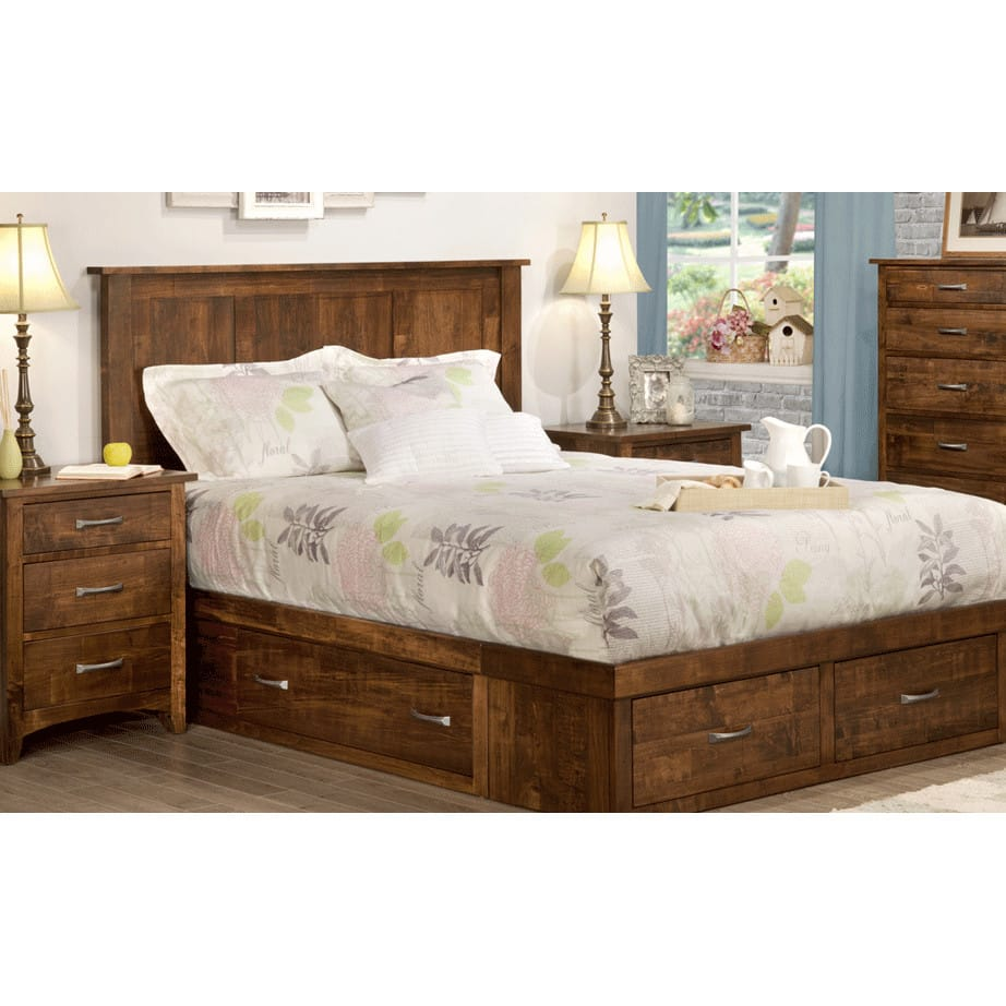 Glen Garry Bedroom, Glen Garry, cherry, distressed, made in canada, maple, master bedroom, oak, rustic, solid wood, handstone, modern, rustic, straight lines, blocky, unique, modern, amish style furniture, contemporary, handmade, rustic, distressed, simple, customizable, Solid Rustic Maple, bedroom ideas, Glen Garry Bedroom A