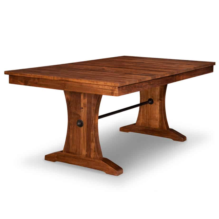 Glen garry trestle table, dining furniture, Style furniture, modern design furniture, dining furniture, dining table, glen garry, handmade to order , customizable, made in Canada, distressed finish, glen garry chairs, dining chairs, , craftsman furniture, amish style furniture, contemporary, handmade, rustic, distressed, simple, customizable, Solid Rustic Maple