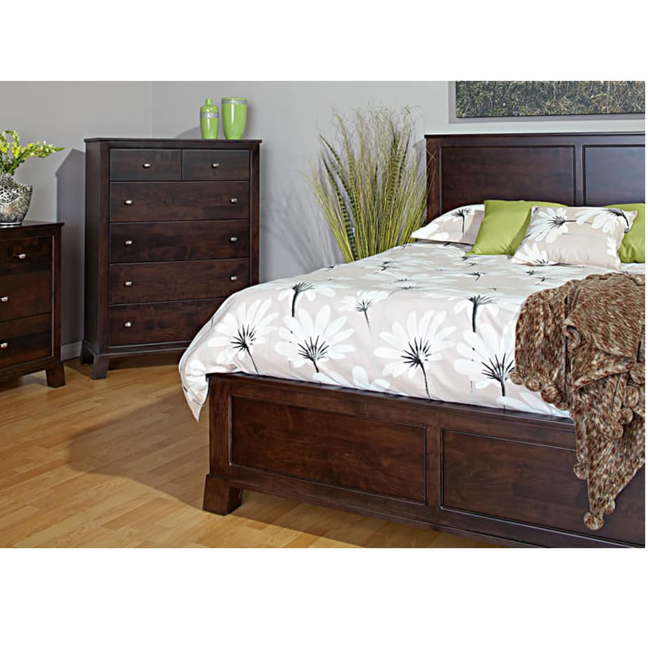 bedroom, bedroom furniture, wood, solid wood, maple, oak, solid maple, solid oak, made in Canada, custom, custom furniture, armoire, storage ideas, bedroom storage, nightstand, design, dresser, nightstand, bed