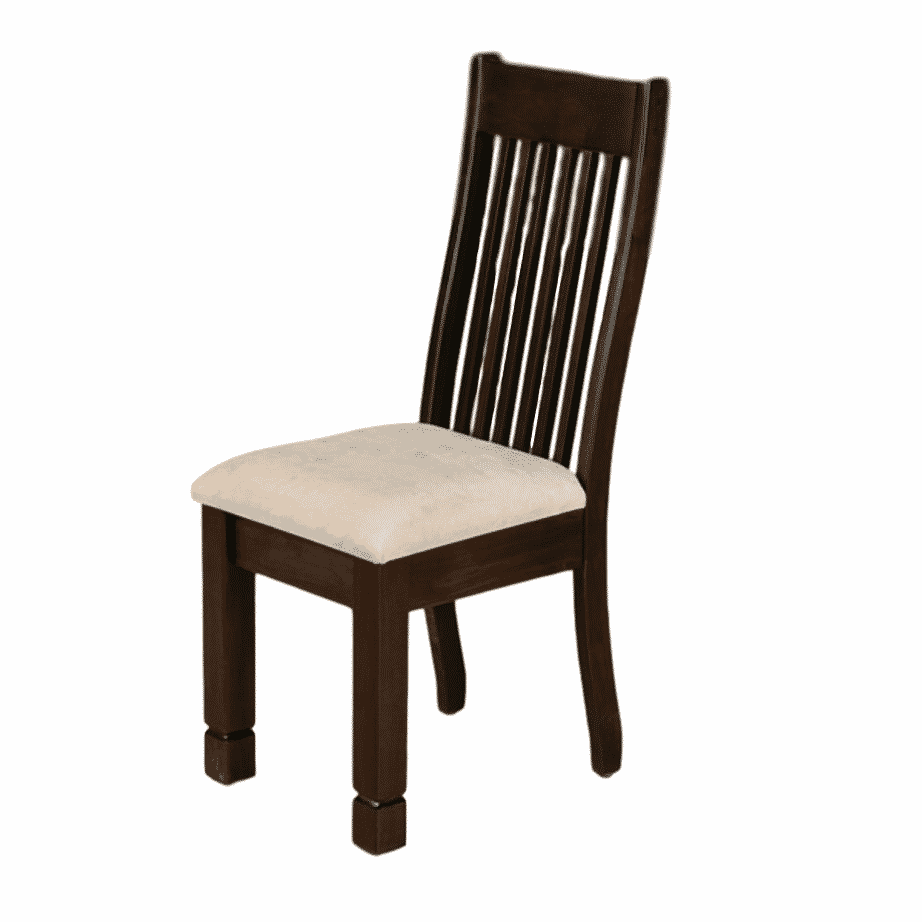 Dining Room, Chairs, chair, custom chair, dining chair, fabric, made in canada, maple, rustic, sahara, solid wood, wood seat, upholstered seat, blocky, square, Sahara, Kona Chair, Kona Chair - Upholstered