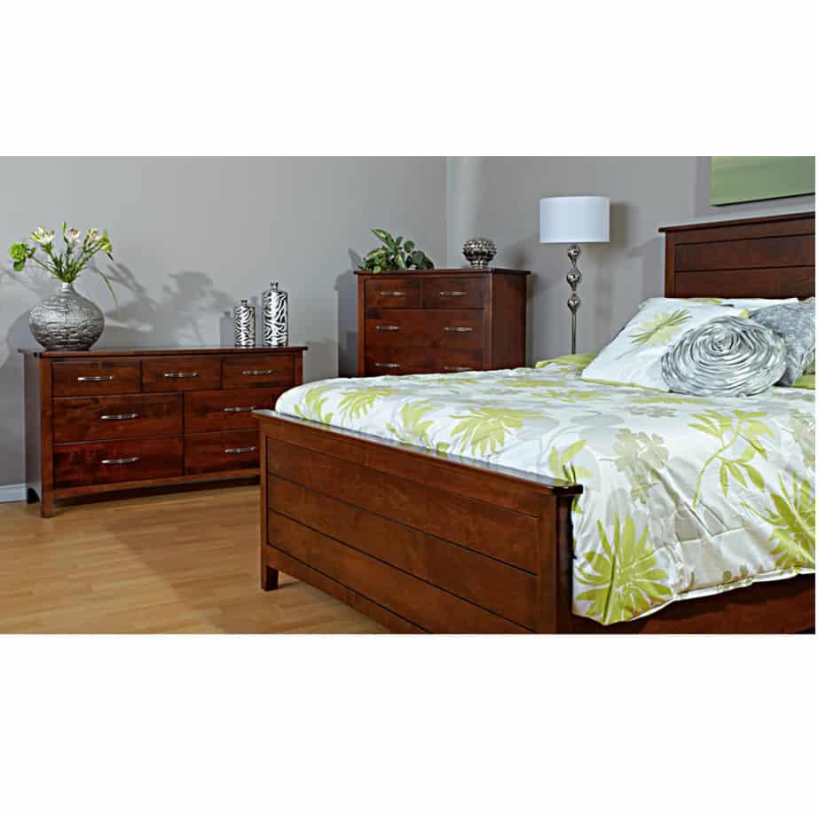 bedroom, bedroom furniture, wood, solid wood, maple, oak, solid maple, solid oak, made in Canada, custom, custom furniture, armoire, storage ideas, bedroom storage, nightstand, design, dresser, nightstand, bed