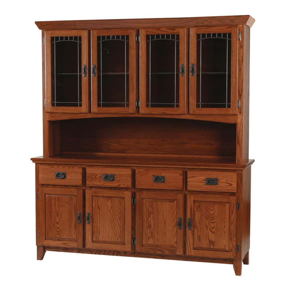 Mission 4 Door Buffet and Hutch, Dining room, dining room furniture, occasional, occasional furniture, solid wood, solid oak, solid maple, custom, custom furniture, storage, storage ideas, dining cabinet, sideboard, hutch