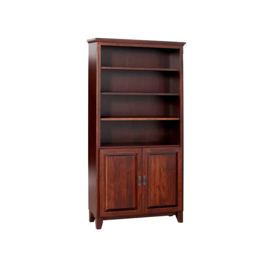 Mission Bookcase with Doors, Solid wood, maple, oak, organize, organization, organizer, custom, furniture, custom furniture, solid maple, solid oak, office, home office, office furniture, storage, storage ideas, shelf, shelving, bookshelf, bookcase, display, library, home library