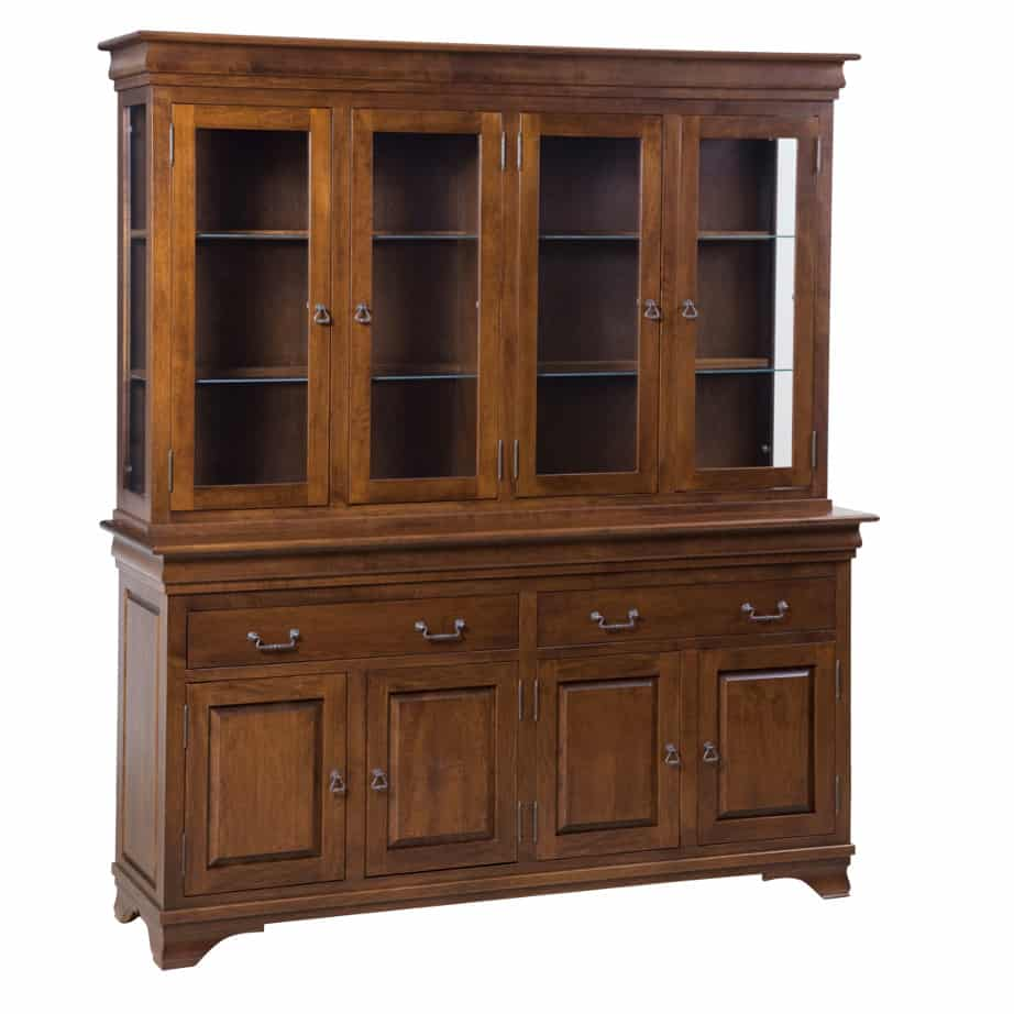Morgan 4 Door Buffet And Hutch Prestige Solid Wood Furniture