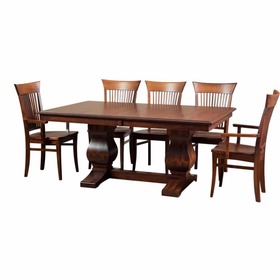 Morgan Trestle Table Prestige Solid Wood Furniture Port