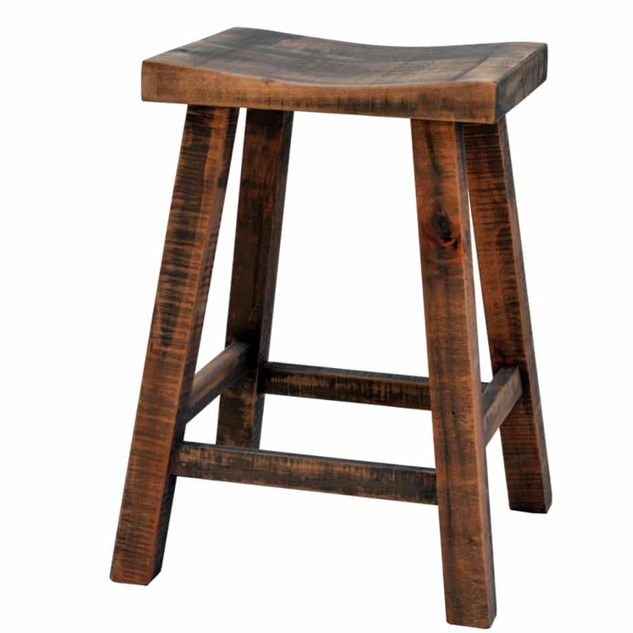 muskoka saddle stool, Dining room, solid wood, maple, rustic maple, made in Canada, stool, custom, custom furniture, counter stool, bar stool, muskoka