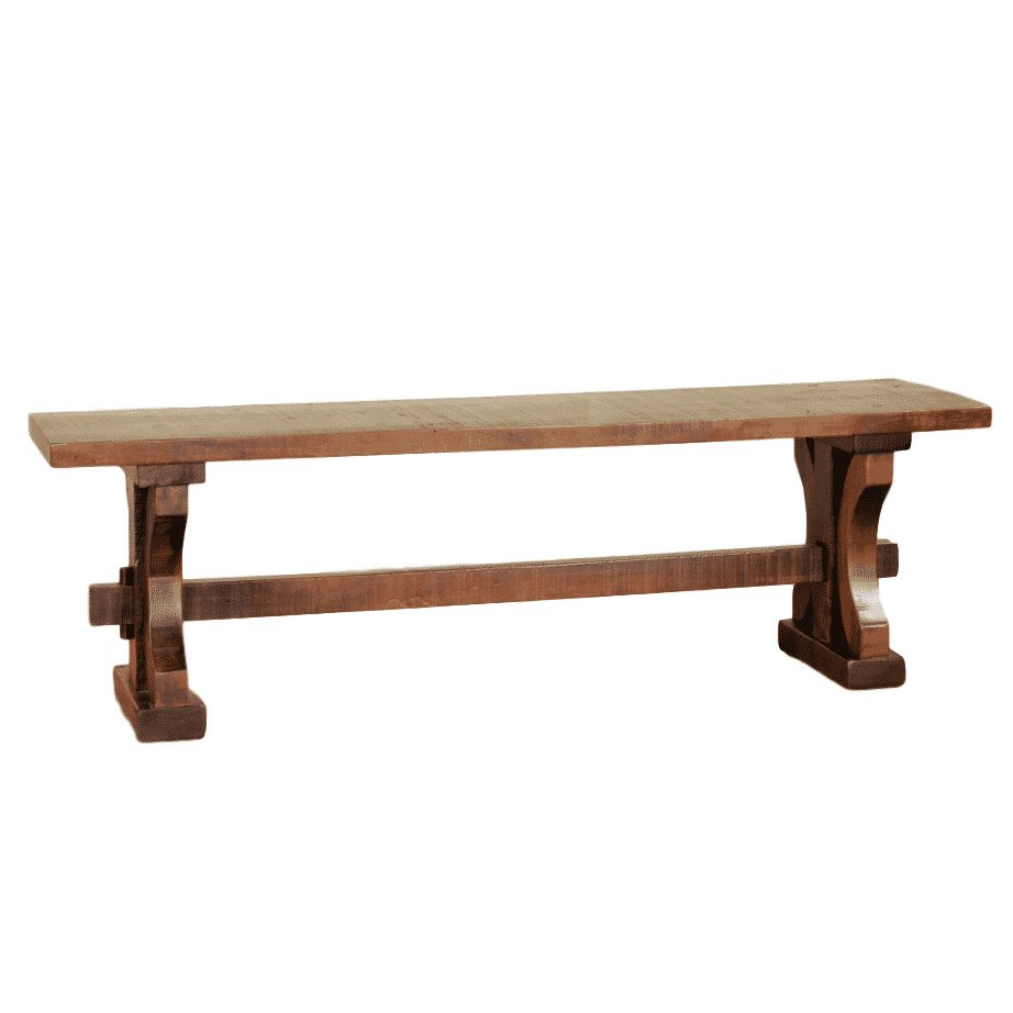 rustic carlisle bench, solid wood bench, rustic wood bench, custom built bench, canadian made bench, ruff sawn bench, rustic carlisle bench