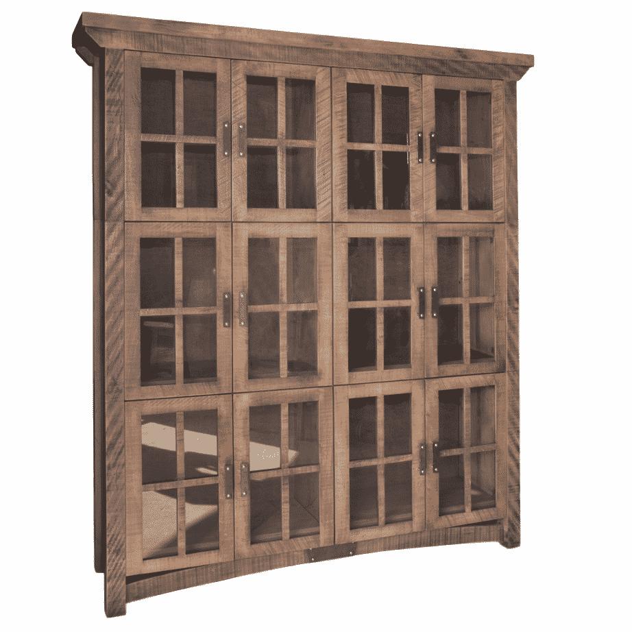 Rustic Carlisle Wall Cabinet Prestige Solid Wood Furniture Port