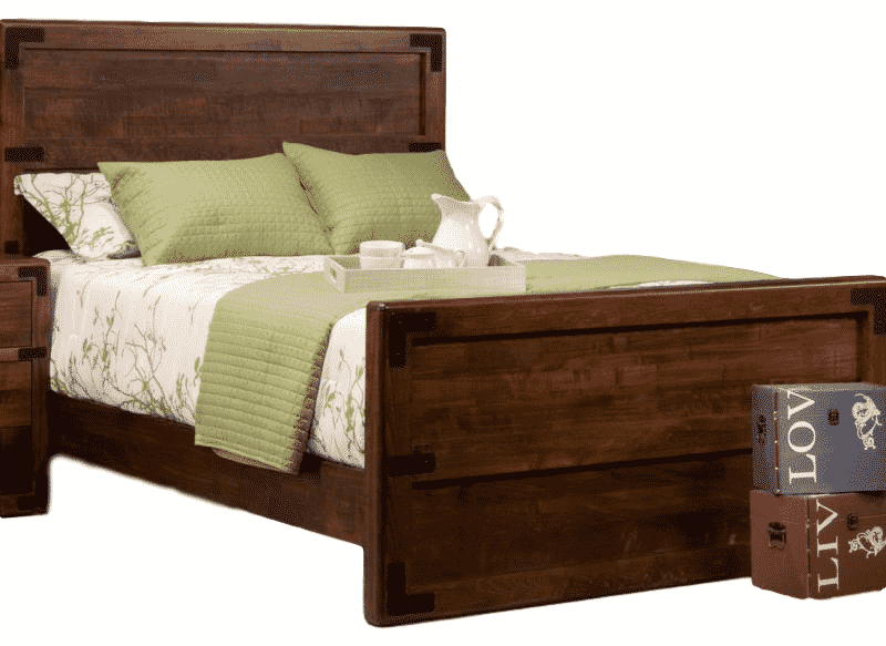 saratoga bed, bedroom, bedroom furniture, custom, custom furniture, bed, solid wood, maple, rustic maple, rustic wood, amish design, oak, cherry, saratoga bed