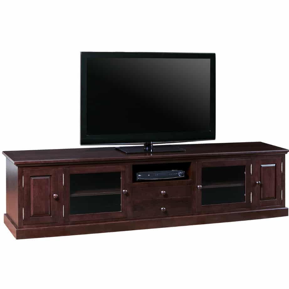 shaker 100 tv console, Entertainment, TV Consoles, contemporary, custom cabinet, HDTV, made in canada, maple, modern, oak, rustic, solid wood, tv, other Sizes Available, Glass, Simple, Living Room, Studio TV Console, storage ideas, custom, Staker 100 TV console