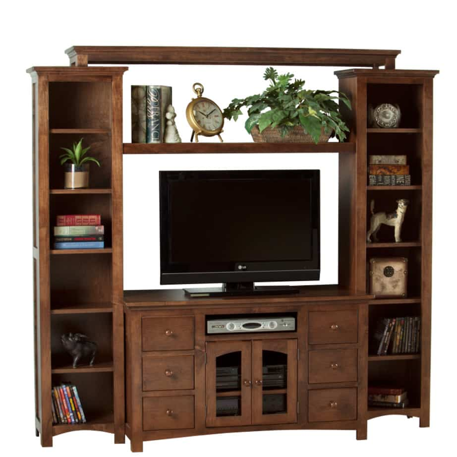 Shaker Arched door wall unit, wall unit, wall unit with storage TV unit, solid wood , made in canada, choose your wood, solid wood furniture, display wall unit