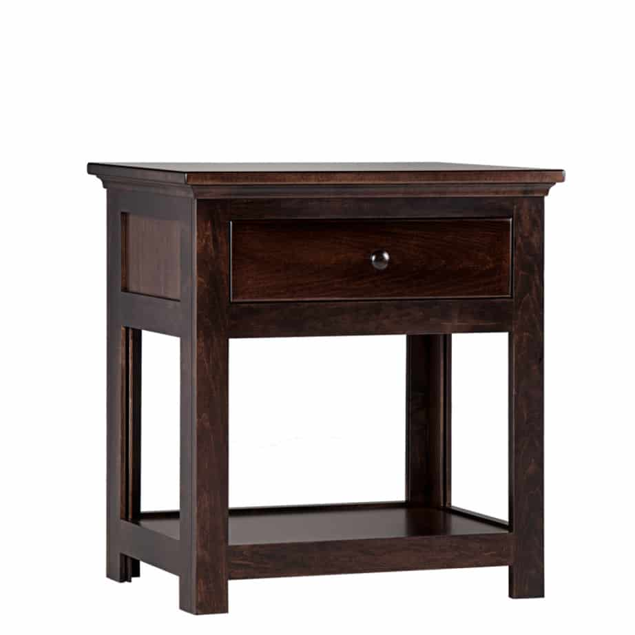 Shaker wide end table, end table, shaker table, wide end table, end table with storage , made in Candada