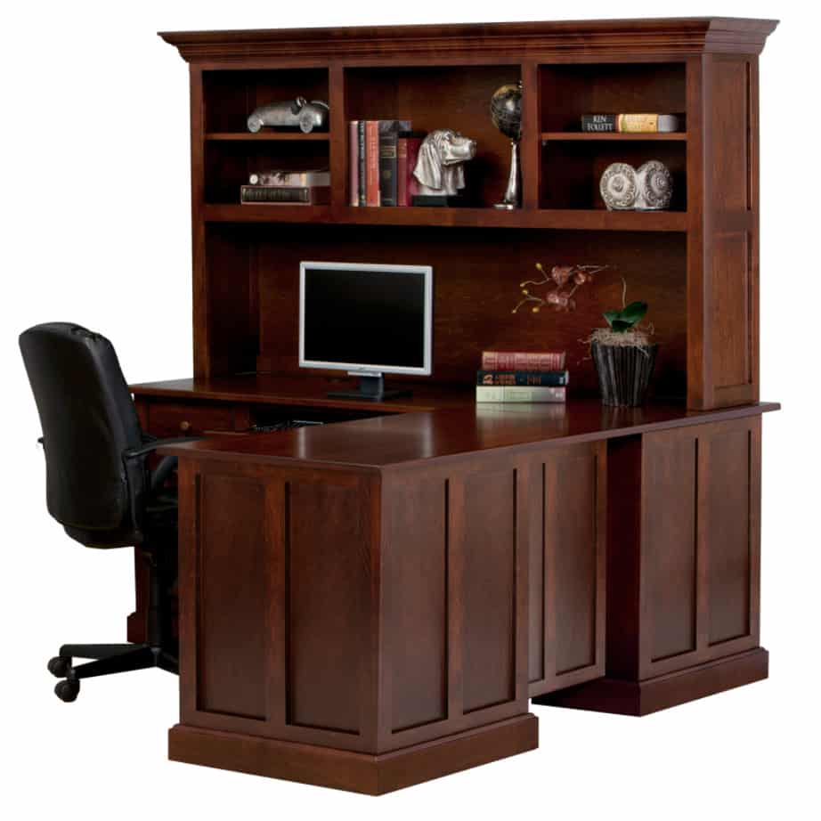 Shaker Workstation, workstation, Work desk , Tall work desk, work desk with storage, wooden furniture, made in canada, workstation