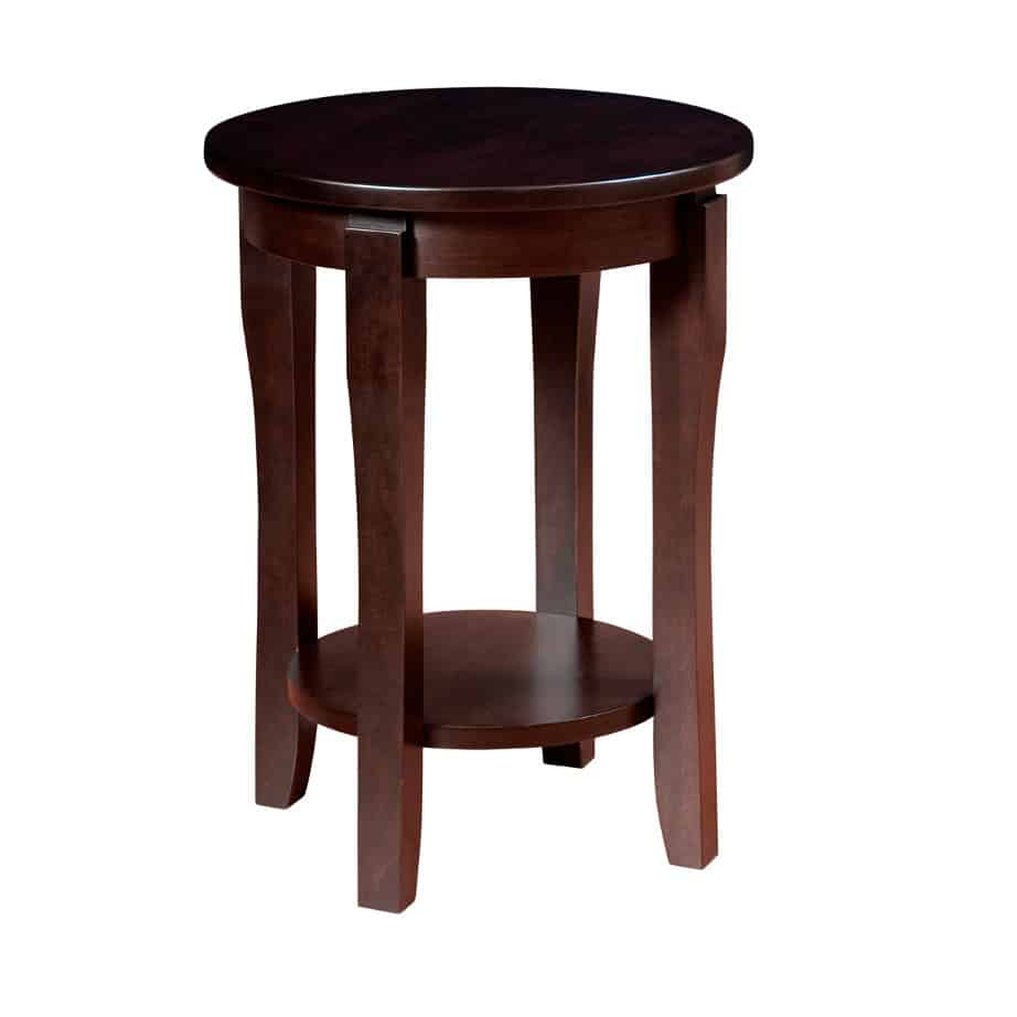 Soho End Table, Soho Round End Table, living room, living room furniture, occasional, occasional furniture, solid wood, solid oak, solid maple, custom, custom furniture, storage, storage ideas, end table