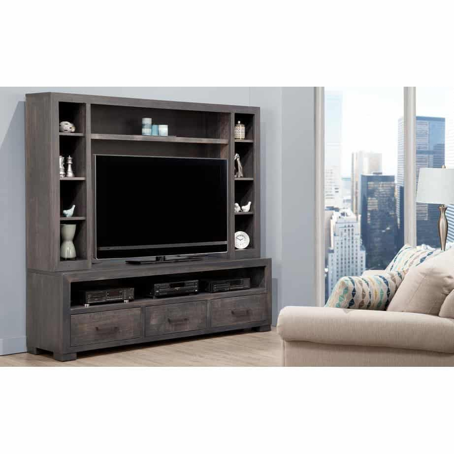 Entertainment, TV Consoles, contemporary, custom cabinet, HDTV, made in canada, maple, modern, oak, rustic, solid wood, tv, other Sizes Available, Glass, Simple, Living Room, Studio TV Console, storage ideas, custom, steel city, wall unit