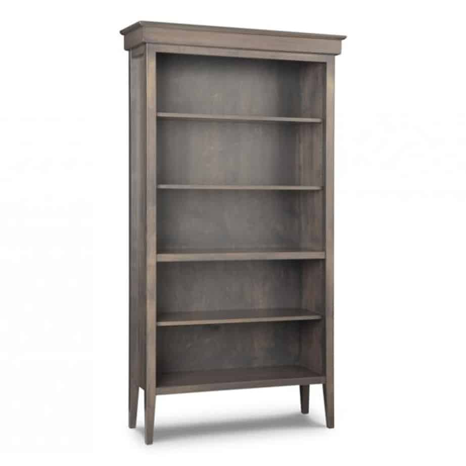 stockholm bookcase, Home Office, shelf, cherry, computer, distressed, made in canada, maple, oak, rustic, solid wood, workstation, office ideas, classic, storage ideas, handstone, custom, custom furniture, bookcase, bookshelf, stockholm